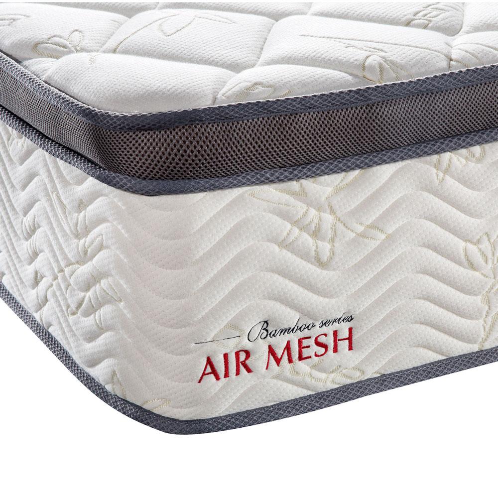 mattress queen bamboo fabric top pocket spring bed back. Black Bedroom Furniture Sets. Home Design Ideas