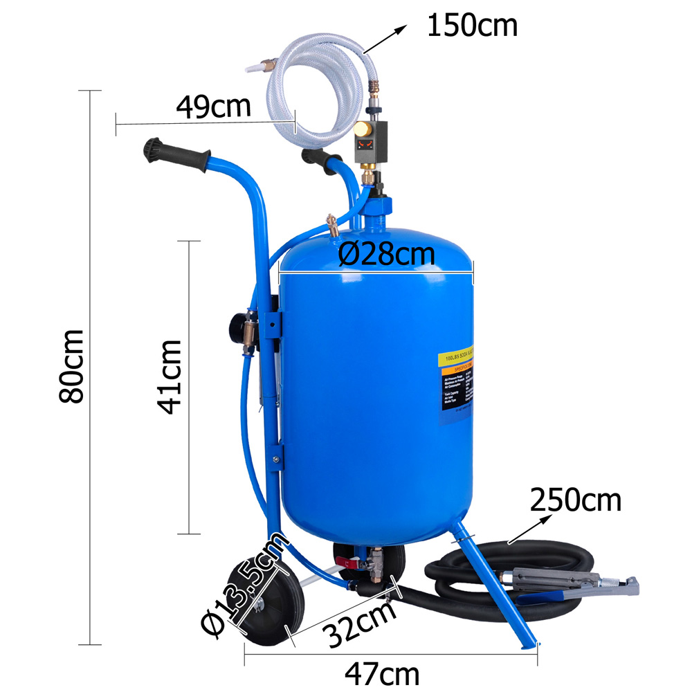 Pressure Washer Gurney Portable Sand Soda Blaster 100lbs