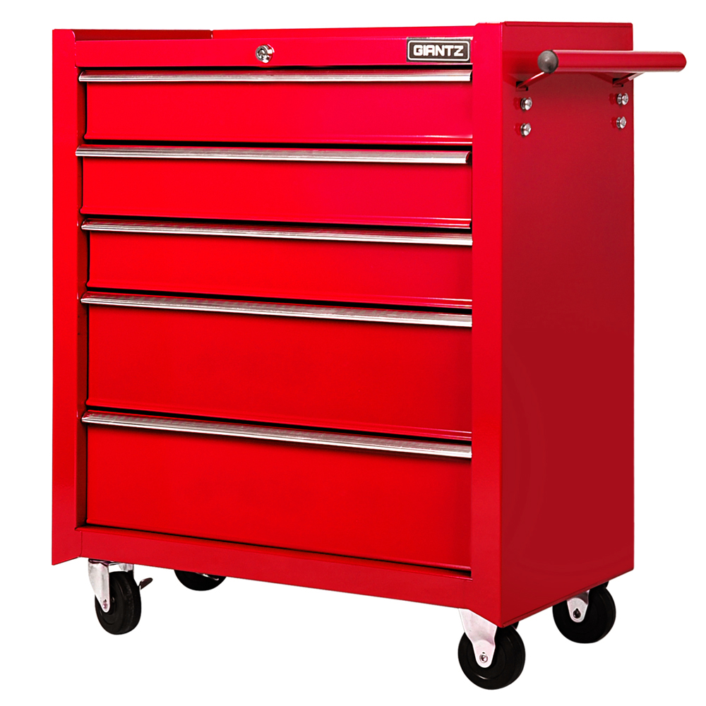 New 5 drawers roller toolbox cabinet large mechanic heavy for Roller sideboard