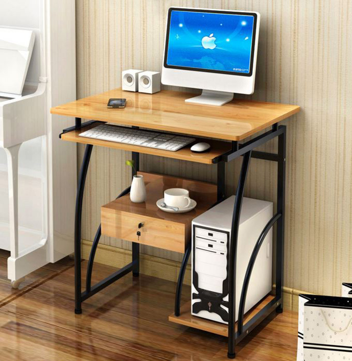 New Study Desk Compact Office Computer Table Laptop Cabinet Drawer Workstation Furniture