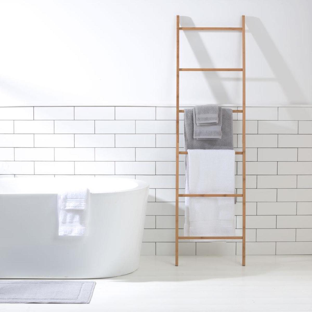 Bamboo Towel Rack Ladder Holder Clothes Rung Rail Shelf