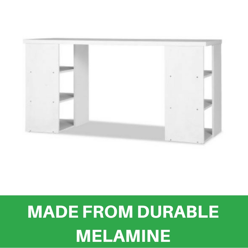 Bookcase Shelves Home Office Computer Desk Study Table 6 Storage Shelf White New Furnitures