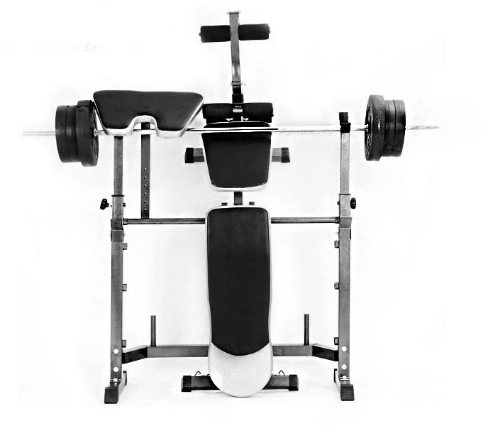 multi station home gym weight bench press leg equipment set fitness developer ebay. Black Bedroom Furniture Sets. Home Design Ideas