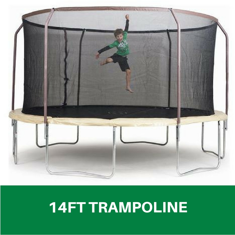Trampoline 14 Foot Enclosure Safety Net Kids Jumping Toy