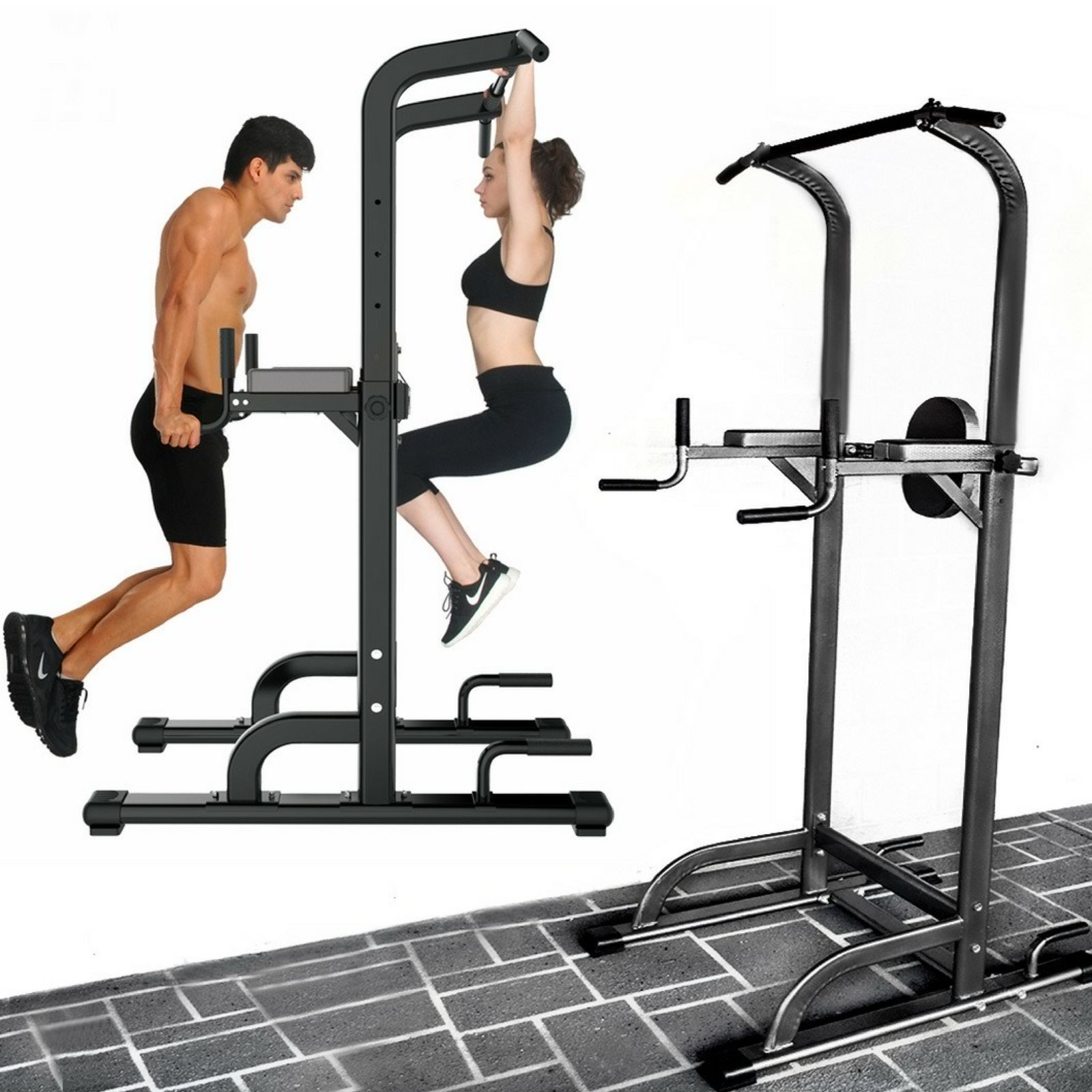 power tower gym dip station home multi chin pull push up. Black Bedroom Furniture Sets. Home Design Ideas