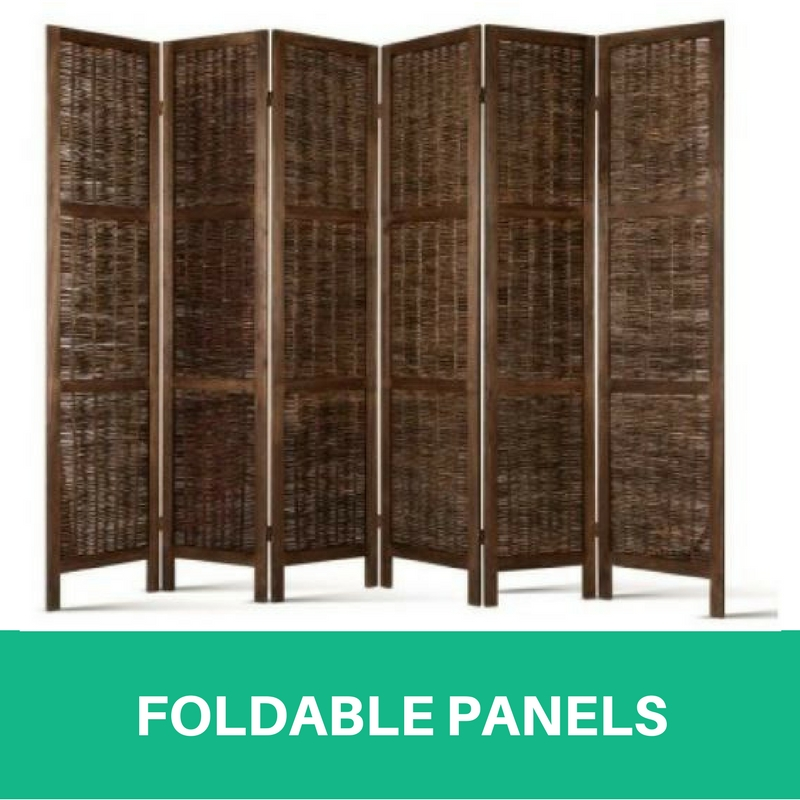 6 Panel Room Divider Solid Wooden Foldable Living Room Privacy
