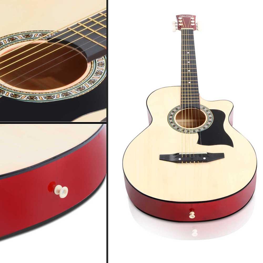 acoustic guitar natural colour beginner student small 3 quarter size new learner. Black Bedroom Furniture Sets. Home Design Ideas