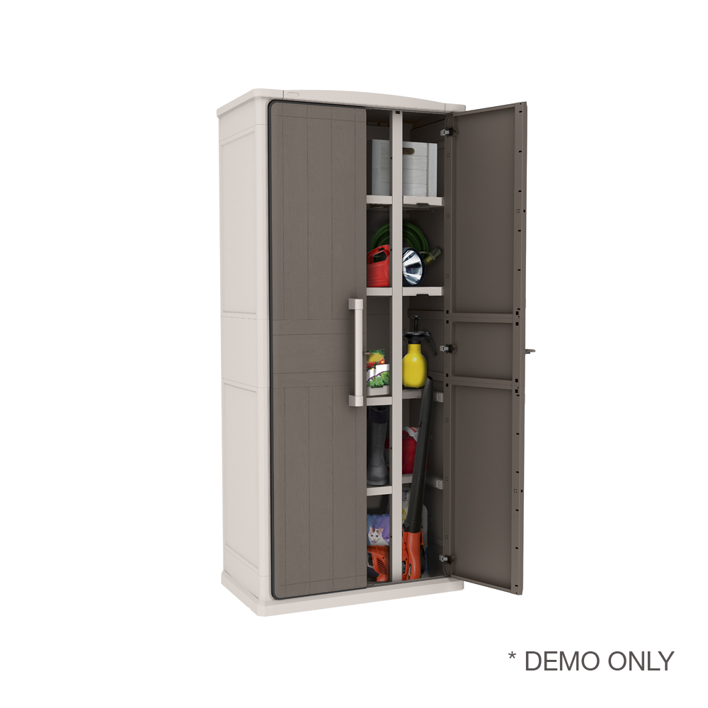 tall outdoor storage cabinet keter optima outdoor storage cabinet indoor 1 8 m 27047