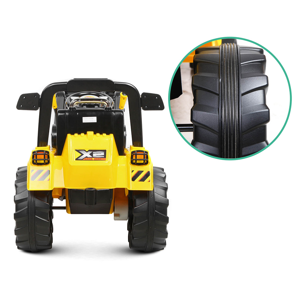 Kids Ride On Toy Tractor Bulldozer Yellow Electric With