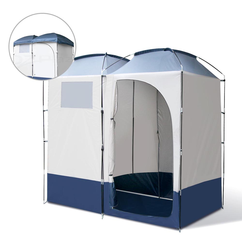 Double C&ing Shower Toilet Tent Outdoor Portable Change Room Ensuite New Loo Event u0026 Function Ablution  sc 1 st  eBay & Toilet Tent Shower Camping Outdoor Portable Change Room Ensuite ...