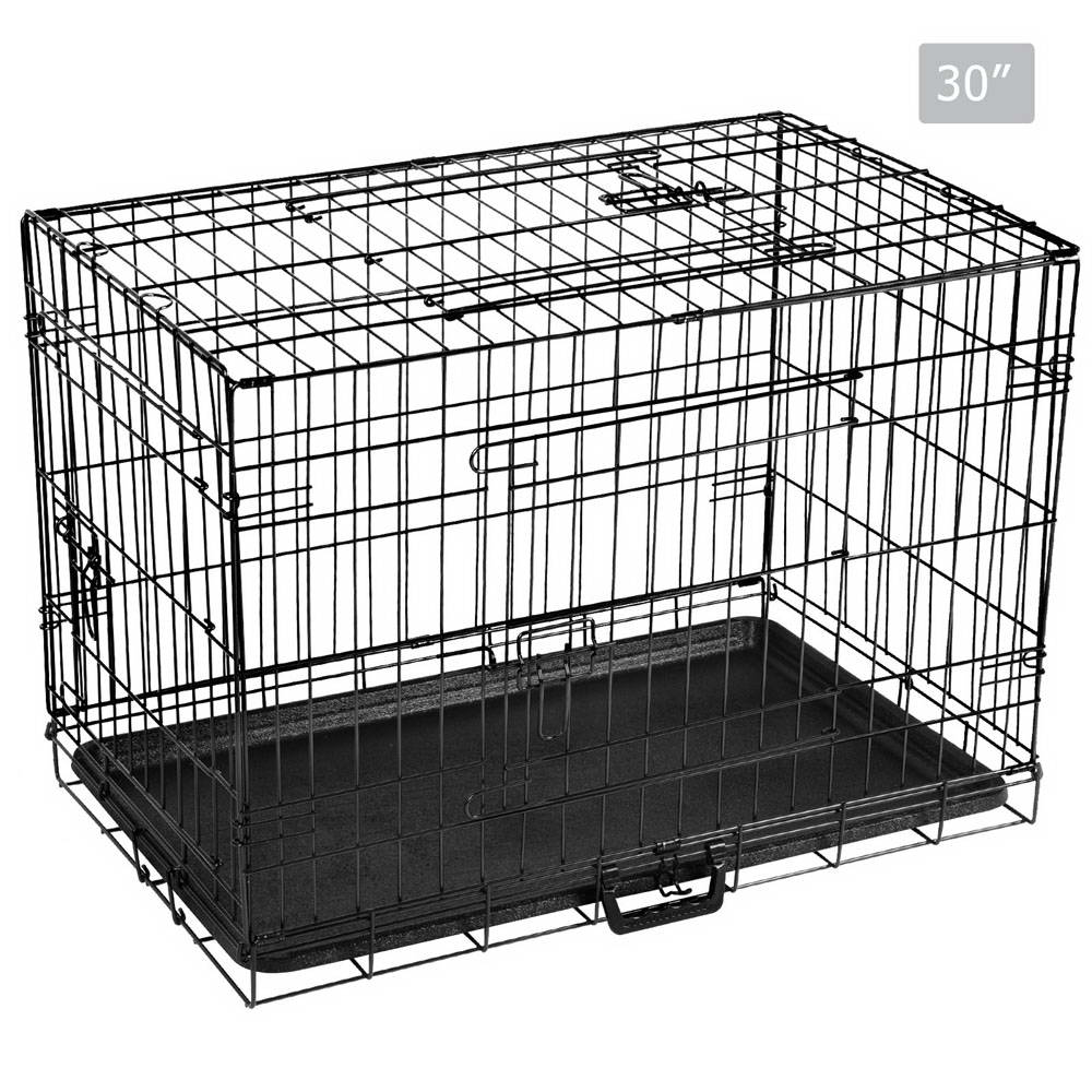 Foldable Pet Cage Dog Puppy Metal Wire Crate Kennel House 48\