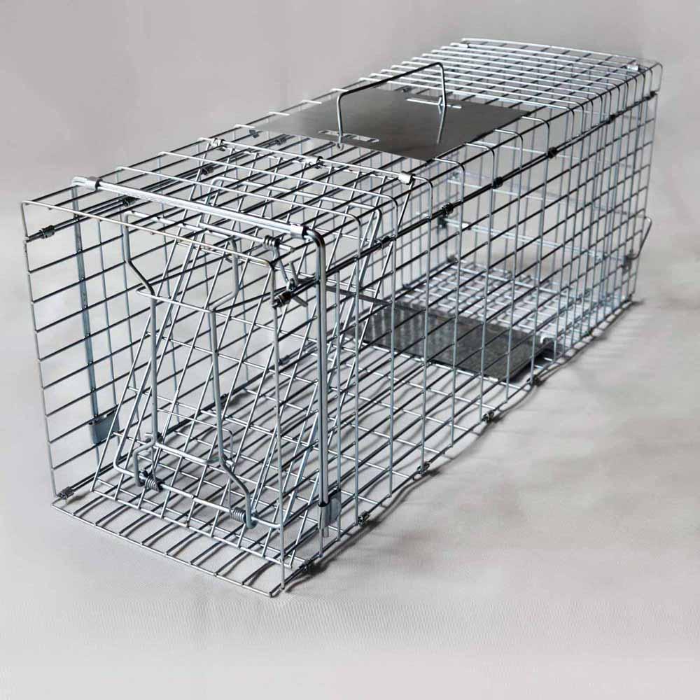 Auto Door Humane Live Animal Trap Cage Possum Fox Rat Cat Rabbit