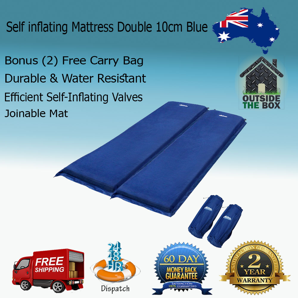 Weisshorn Double Self inflating Mattress Mat Sleeping Pad Air Bed Camping  Hiking Joinable