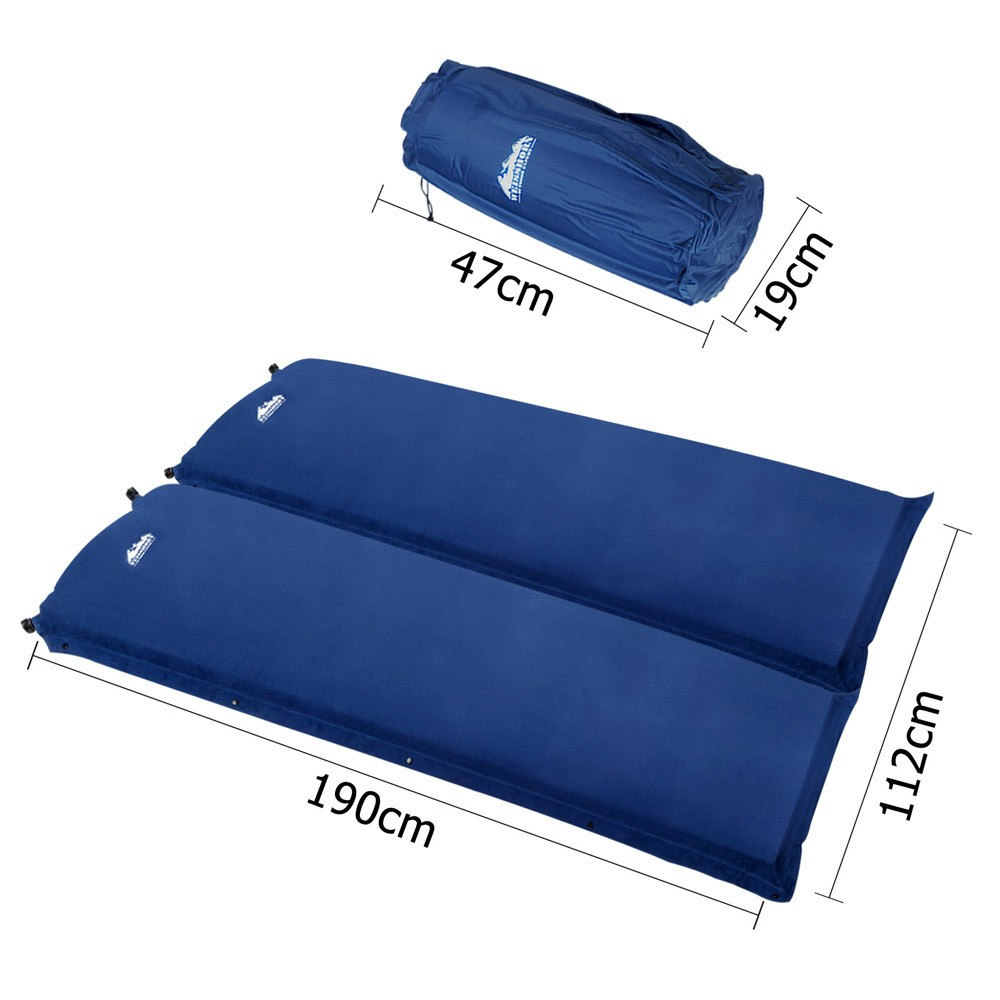 Weisshorn Double Self inflating Mattress Mat Sleeping Pad Air Bed Camping  Hiking Pad