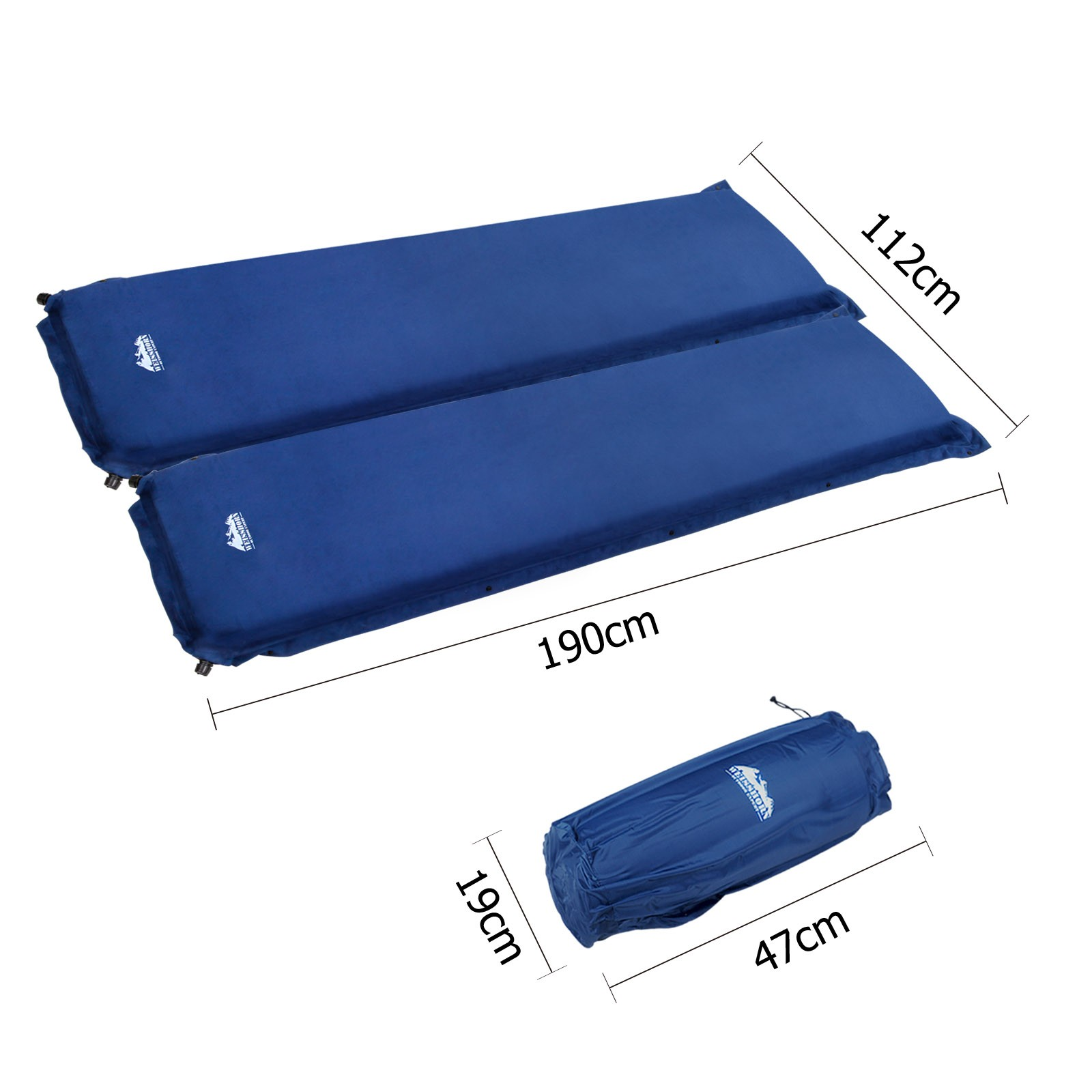 Weisshorn Double Self inflating Mattress Mat Sleeping Pad Air Bed Camping  Hiking Airbed