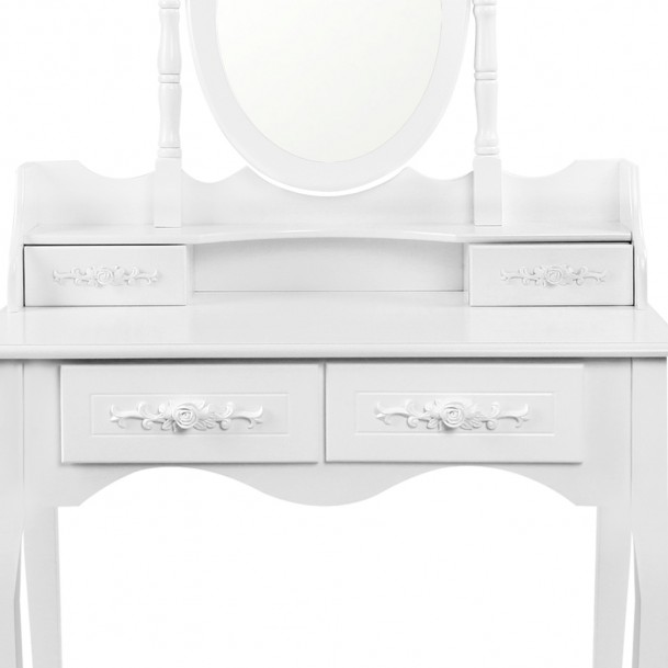 Brand New 4 Drawers Luxury Mirror Wooden Dressing Table ...